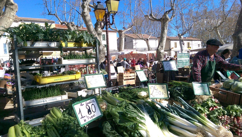 vakantiehuis Ardeche: markt in Joyeuse